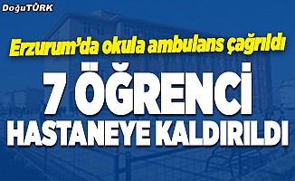 Erzurum'da 7 öğrenci hastaneye kaldırıldı