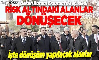 Erzurum Kurum, Erzurum'daki dönüşüm alanlarını gezdi, talimatı verdi