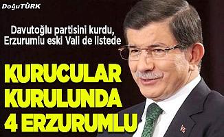 Davutoğlu'nun listesinde 4 Erzurumlu…