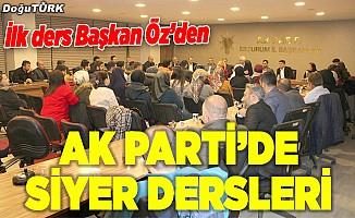 Erzurum AK Parti'de Siyer dersleri başladı