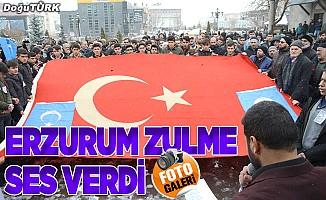 Erzurum zulme ses verdi