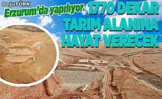 Köşk Barajı 1770 dekar araziyi sulayacak