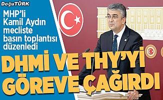 MHP'li Aydın: Erzurum'a uçak sefer sayıları azaltılmamalı