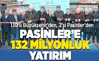 Pasinler'de 132 milyonluk yatırımların toplu açılışı yapıldı