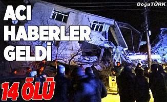 Elazığ'da 6,8 büyüklüğünde deprem: 14 kişi hayatını kaybetti