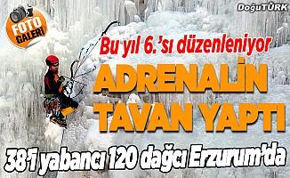 Erzurum'da 6. Uluslararası Emrah Özbay Buz Tırmanış Festivali başladı