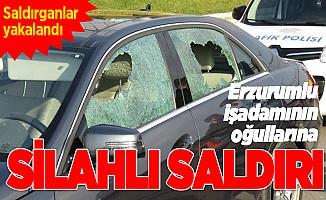Erzurumlu işadamının oğullarına silahlı saldırı