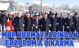MHP kurmaylarından Erzurum'a çıkarma