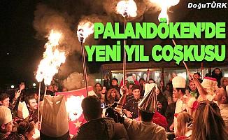 Palandöken'de yeni yıl coşkuyla kutlandı