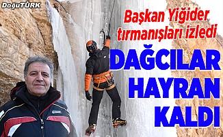 Yabancı dağcılar hayran kaldı