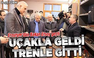 """Bakan Ersoy """"Doğu Ekspresi"""" ile yolculuk yaptı"""