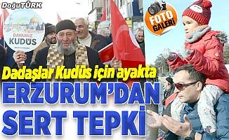 Erzurum'da ABD'nin sözde barış planı protesto edildi