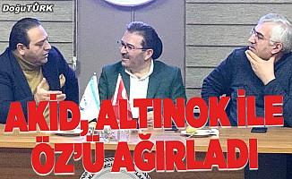 Milletvekili Altınok ile Başkan Öz AKİD'i ziyaret etti
