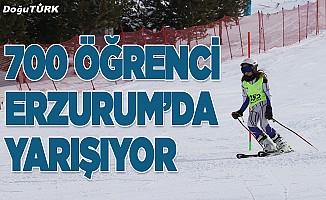 Okul Sporları Türkiye Kayak Şampiyonası Erzurum'da başladı
