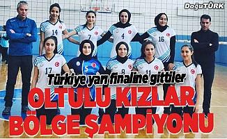 Oltu Anadolu Lisesinin voleybol başarısı