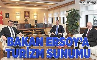 Vali Memiş ile Başkan Sekmen'den Bakan Ersoy'a turizm sunumu