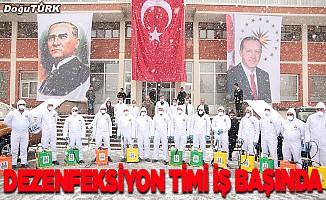 """Erzurum'da """"koronavirüs dezenfeksiyon timi"""" iş başında"""