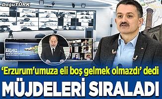 Bakan Pakdemirli'den Erzurum'a müjdeler