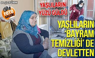 """Bakıma muhtaç yaşlıların """"bayram temizliği"""" de devlet elinden"""