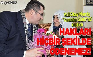 """Erzurum Valisi Okay Memiş """"Anneler Günü""""nü kutladı."""