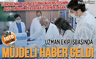 KOVİD 19 aşı çalışmasında müjdeli haber Atatürk Üniversitesi'nden