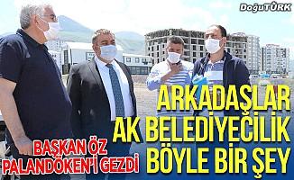 AK Parti İl Başkanı Öz'den Palandöken Belediyesi'ne övgü