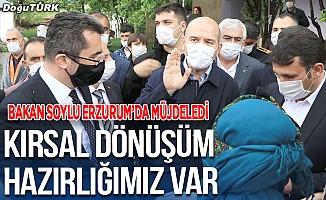 Bakan Soylu Erzurum'da müjdeledi; Kırsal dönüşüm hazırlığımız var!