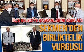 Başkan Sekmen'den birliktelik vurgusu