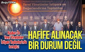 """Erzurum'da """"AK Parti Yerel Yönetimler Toplantısı"""" yapıldı"""