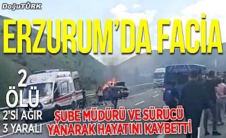 Erzurum'da facia; 2 ölü, 2'si ağır 3 yaralı