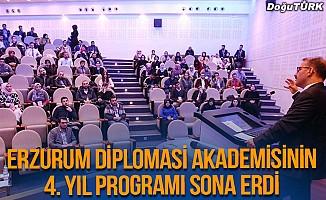 Erzurum Diplomasi Akademisinin 4. yıl programı sona erdi
