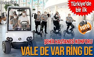 """Erzurum Şehir Hastanesi """"vale ve ring"""" hizmetiyle konfor sağlıyor"""