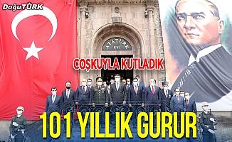 Atatürk'ün Erzurum'a gelişinin 101. yıl dönümü törenle kutlandı