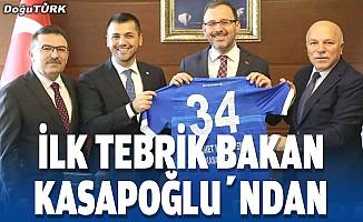 Bakan Kasapoğlu'ndan Büyükşehir Belediye Erzurumspor'a tebrik