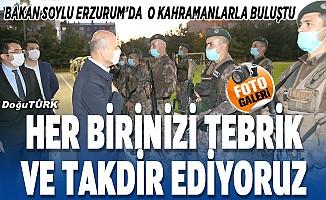 Bakan Soylu Erzurum'da o kahramanları tek tek kutladı