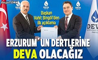 Bingöl: Partimizin kapıları, Erzurum'u dert edinen herkese sonuna kadar açıktır