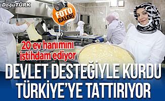 Devlet desteğiyle kurdu, su böreğini Türkiye'ye tattırıyor
