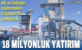 Erzurum'a 18 milyonluk yatırım
