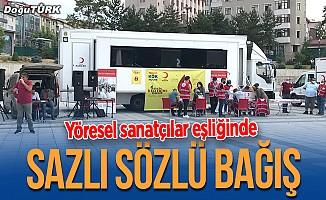 Erzurum'da kök hücre bağışı yöresel şarkılar eşliğinde yapıldı