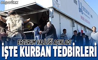 Erzurum'da Kurban Bayramı dolayısıyla gerekli tedbirler alındı