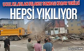 Erzurum'da o binalar yıkılıyor