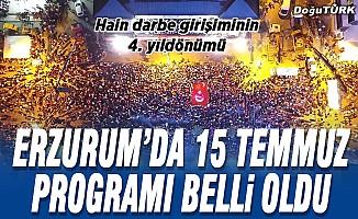 Erzurum'da 15 Temmuz programı belli oldu