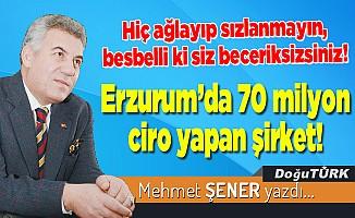 Erzurum'da 70 milyon ciro yapan şirket!