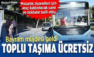 Kurban Bayramı'nda toplu taşıma ücretsiz