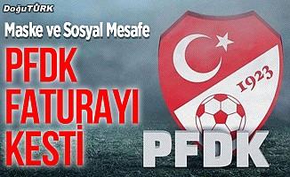 PFDK'den TFF 1. Lig kulüplerine sosyal mesafe ve maske cezası