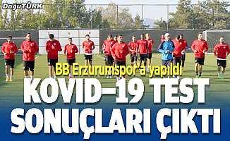 BB Erzurumspor'a Kovid-19 testi yapıldı