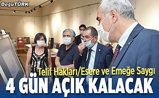 Erzurum'da emeğe saygı sergisi