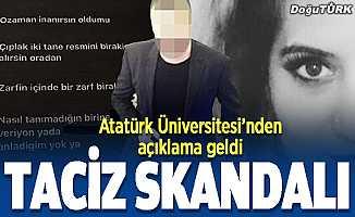 Erzurum'da taciz skandalı
