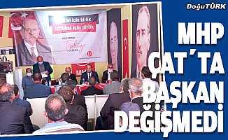 MHP Çat'ta başkan değişmedi