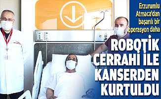 Robotik cerrahi ile sağlığına kavuştu